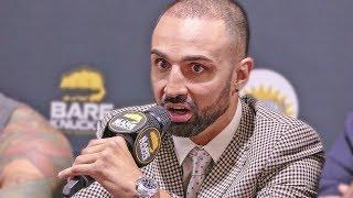 Paulie Malignaggi vs. Artem Lobov MEDIA Q&A - Bare Knuckle Boxing
