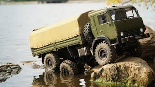 Обзор. Самодельный военный грузовик на радиоуправлении КАМАЗ 5350 зверская мощь СССР military truck