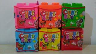 #learncolors cube box renkli kutular ile İngilizce ve Türkçe renkleri öğren içindeki oyuncakları aç