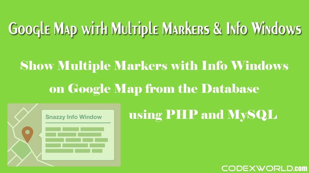 Adding Multiple Markers with Info Windows to Google Maps
