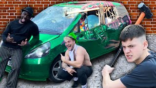 break into this locked car to win whats inside challenge
