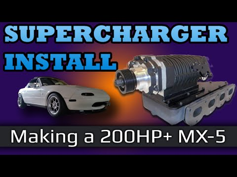 Mazda MX-5 Miata NA Supercharger 200hp+ FFS Kit - YouTube