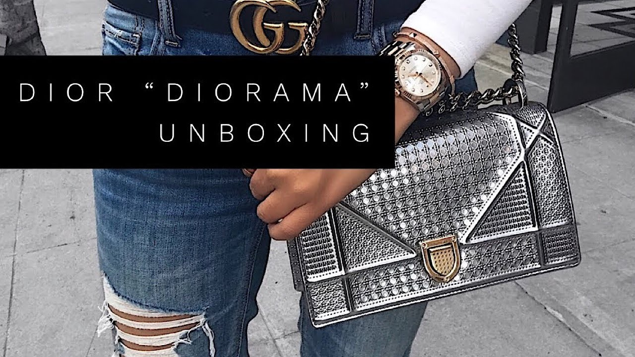 c0f876b075d DIOR DIORAMA BAG IN METALLIC SILVER FALL 2017   UNBOXING   REVIEW ...