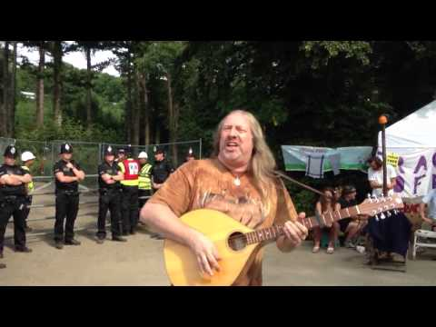 Damh the Bard at fracking protest