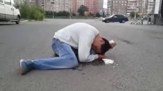 Наркоман курил спайс.  Магнитогорск  14.07.14