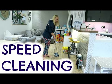 Thumbnail: SPEED CLEANING | 10 MINUTE TIDY UP CHALLENGE
