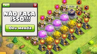 MAIORES ERROS NO FARM DO CLASH OF CLANS