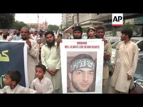 Protests over death of Kashmir rebel leader