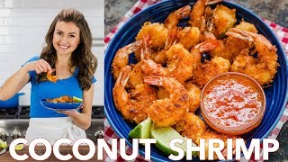 🍤Easy Coconut Shrimp Recipe with 2-Ingredient Dipping Sauce 🍤
