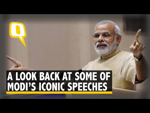 Modi @ 4: Throwback to Some of His Iconic Speeches in 2017-18