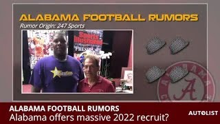 Alabama Football Rumors: 2019 Recruiting Update, Taulia Visits Vols, Nick Saban Offers 2022 Recruit