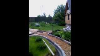 видео Установка бортового камня и поребриков