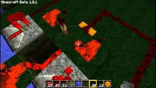 Уроки по Minecraft: Как сделать управляемый инвертор (XOR)