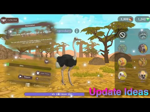 WildCraft Update Ideas: Ostrich And Boar Transformation, +animations, And More!