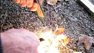 How to use magnesium emergency fire starter in a survival situation