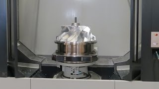Efficient impeller machining on five axis Starrag STC 800 machiningcenter