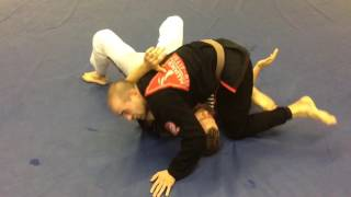 Knee On Neck Choke Option - Double Gold BJJ
