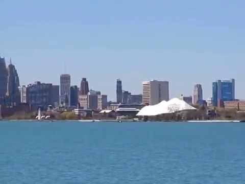 Detroit Skyline View From Belle Isle and Milliken State Park