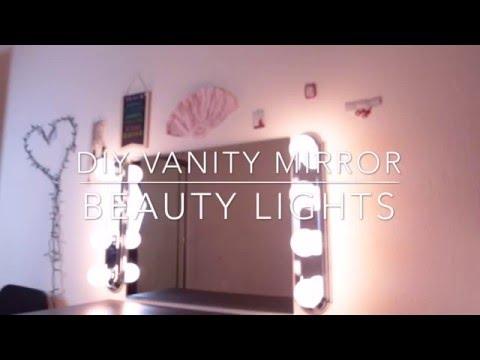 DIY Vanity Mirror with Lights | Zmeliisabeauty