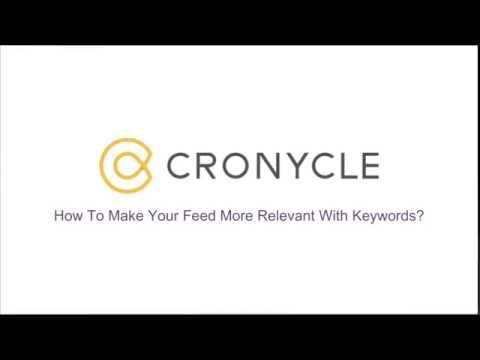 Make Your Feed More Relevant With Keywoards