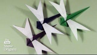 Оригами #Стрекоза из бумаги