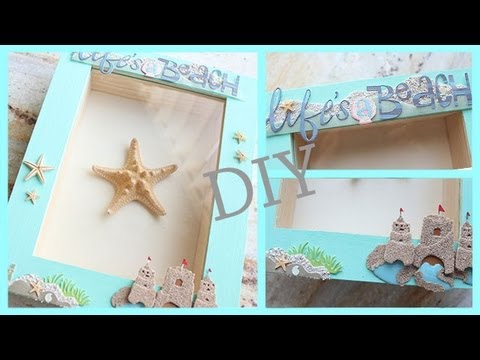 DIY Room Apartment Decor Framed Starfish BEACH THEMED YouTube