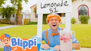 Blippi Makes A Lemonade Stand  Educational Videos For Toddlers