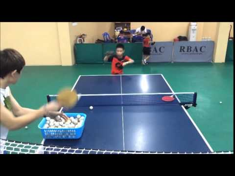 10 years & 7 years old table tennis training