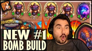 WHAT IS THIS BOMB BUILD?? - Hearthstone Battlegrounds