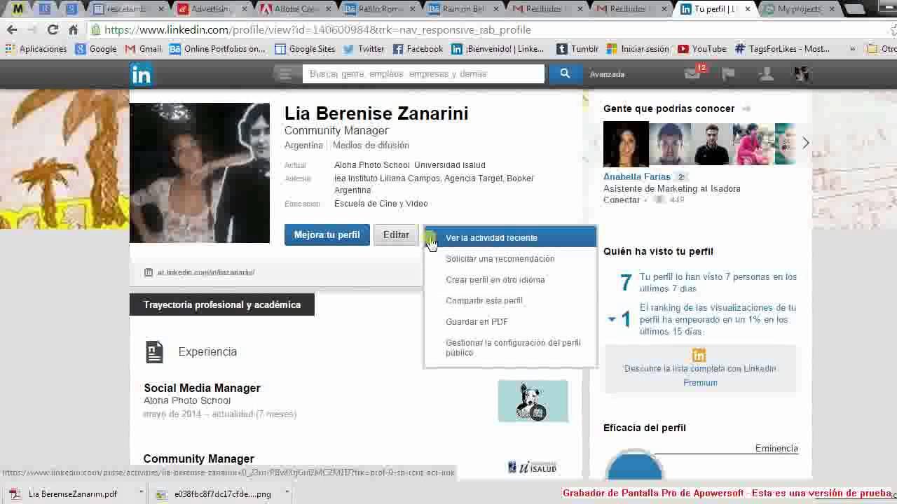 Descargar C.V. en formato pdf mediante LinkedIn - YouTube