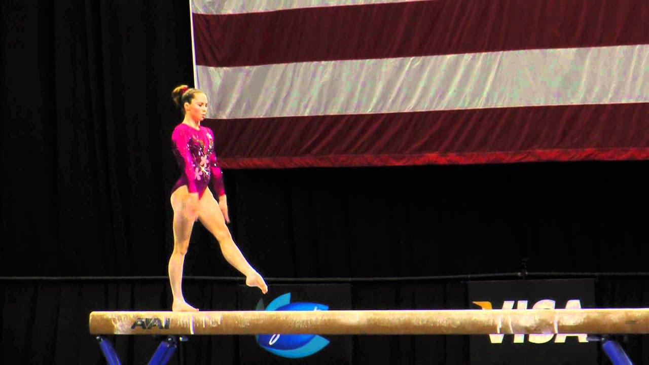 mckayla maroney balance beam 2012 visa championships sr