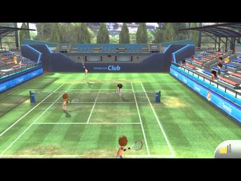 Wii Sports Club - Online Tennis Match Gameplay