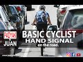Basic Cyclist Hand Signal on the Road