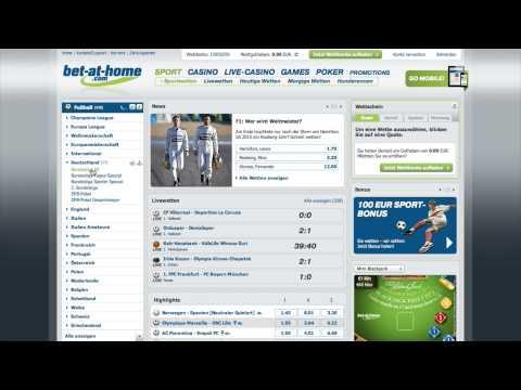 Video Sportwetten bonus