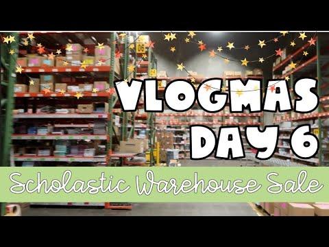 Scholastic Warehouse Sale   Vlogmas Day 6