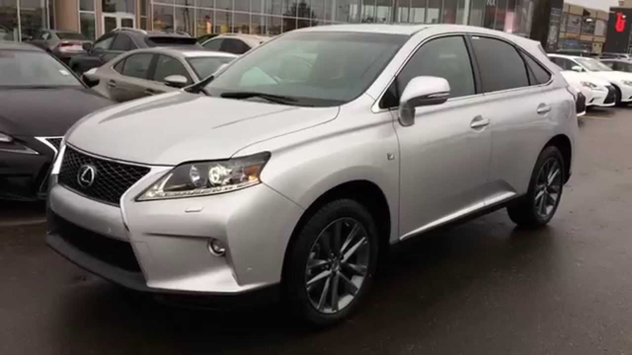 Lexus 350 Rx 2017 >> New Silver Lining on Black 2015 Lexus RX 350 AWD F Sport Package Review - West Edmonton - YouTube