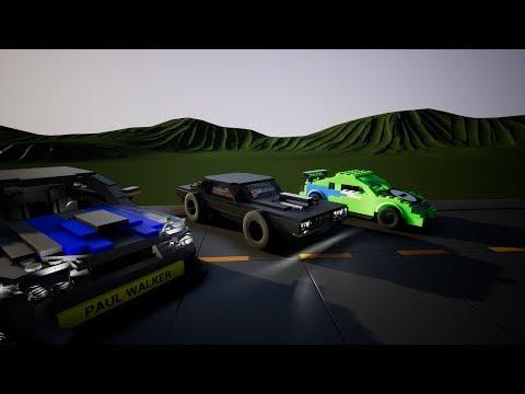Brick Rigs - Velozes e furiosos! Dodge Charger, eclipse e Skyline ! #20