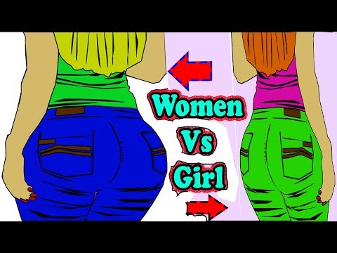 Top 5 Differences Between  Girl And Woman .