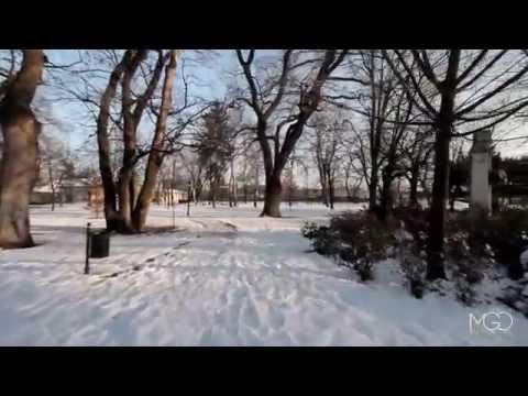 Winter Sunset in Park (Glidecam & Canon EOS) Galanta, Slovakia