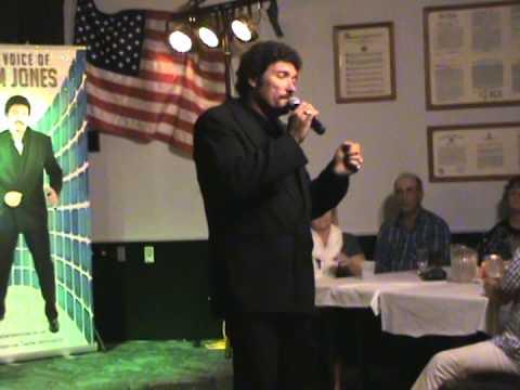 Tom Jones Impersonator singing