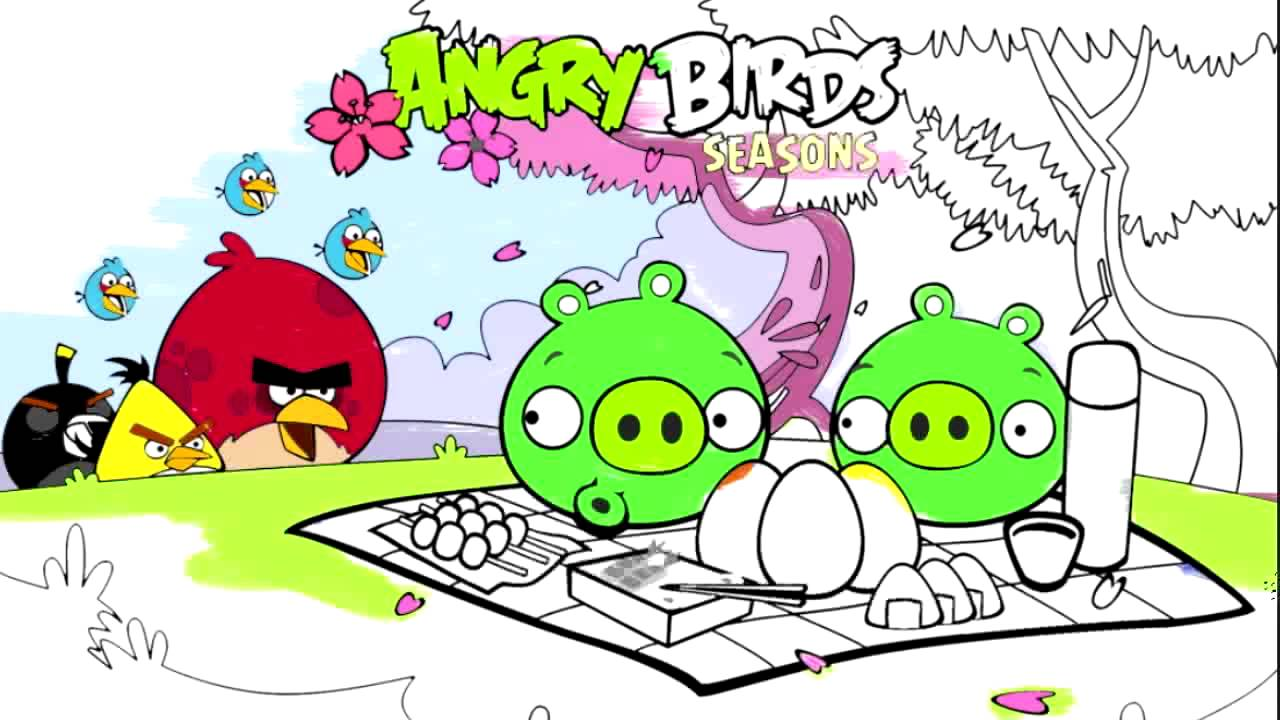 Angry Birds Coloring for Children - Coloring for kids ANGRY BIRDS ...