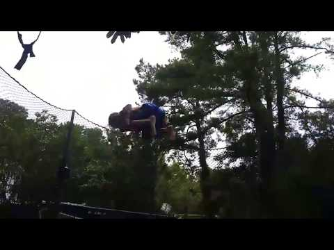 1 bounce double backflip on trampoline