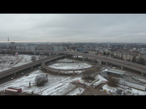 4k Riga Daugava River and South Bridge Ultra HD