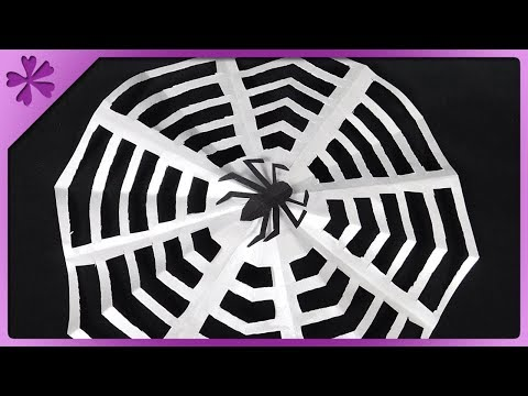DIY How to make spider web out of paper (ENG Subtitles) - Speed up #531