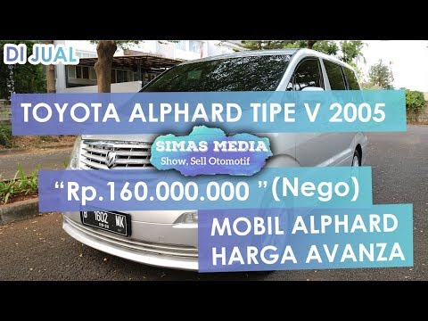 DiJual Toyota Alphard Tipe 2.4 Tipe V 2005 Hanya