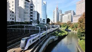E353系 モハE353-520形 甲府→(特急 かいじ16号)→新宿