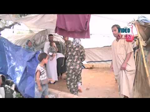 Syrian refugees at Atmeh camp in Idlib