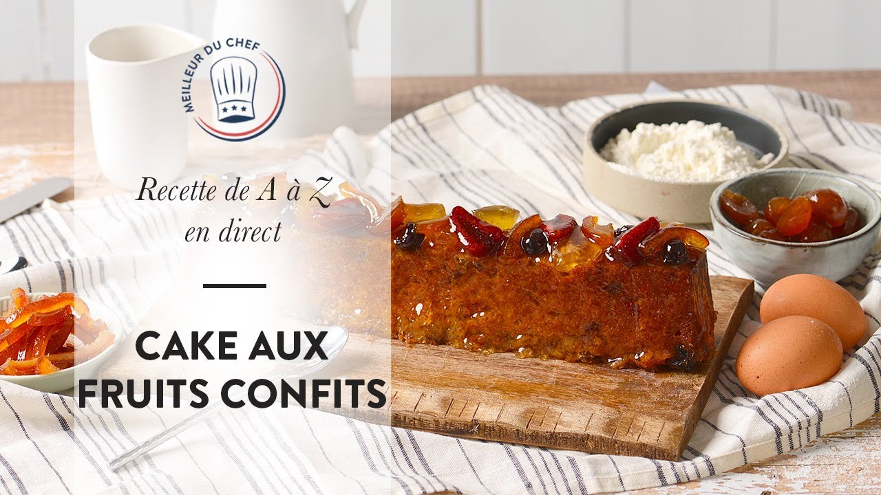 Recette facile en direct : le Cake aux Fruits Confits !