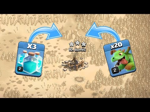 HE DID THE IMPOSSIBLE THING | 20 BABY DRAGON ATTACK CLASH OF CLANS - COC