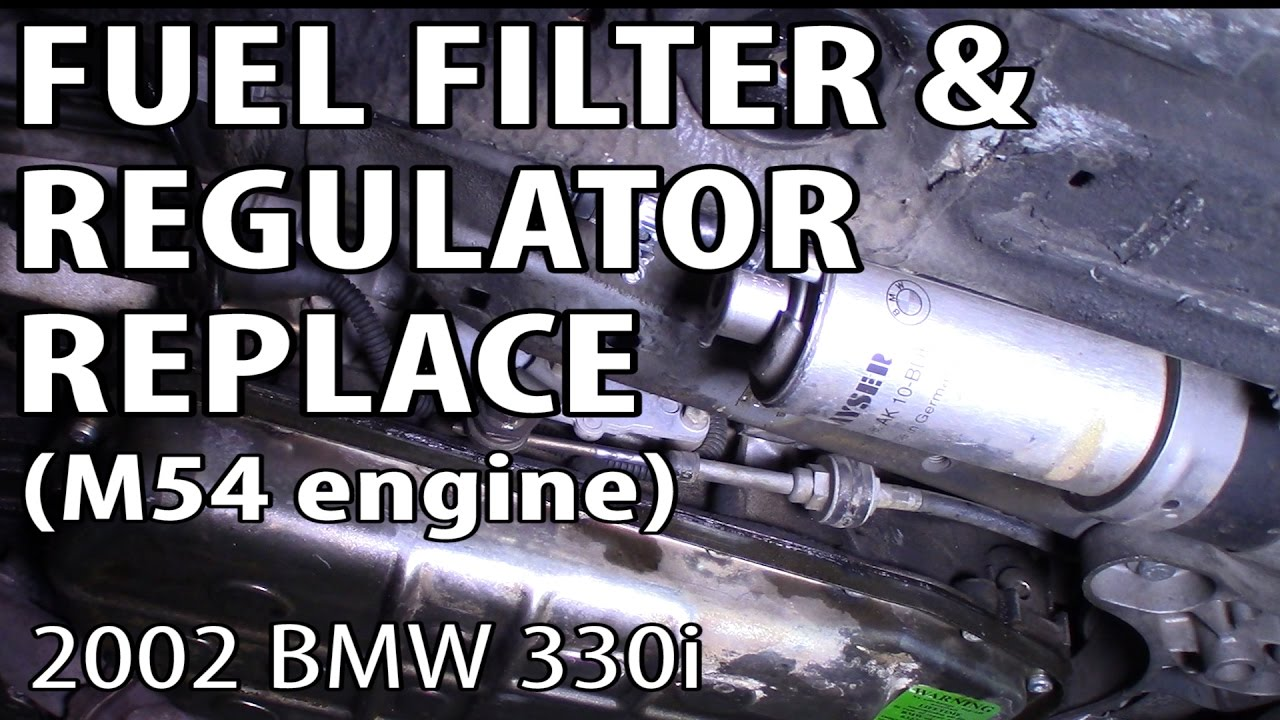 BMW 330i 325i E46 Fuel Pressure Regulator Replacement M54 engine